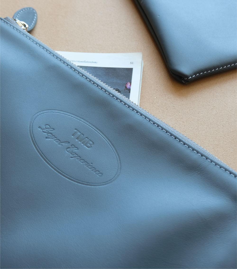 รับผลิตกระเป๋าหนัง รับผลิตสินค้าพรีเมี่ยม ธนาคาร tmb-2