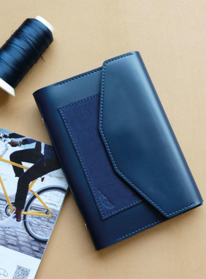 สมุดบันทึกปกหนัง pocket magbook สีน้ำเงิน-01