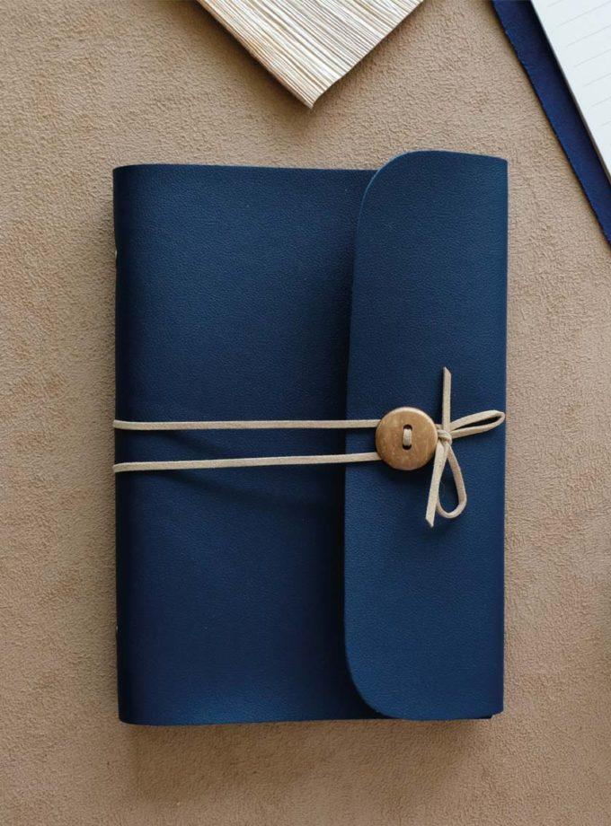 สมุดปกหนัง BL2 สีน้ำเงิน-01