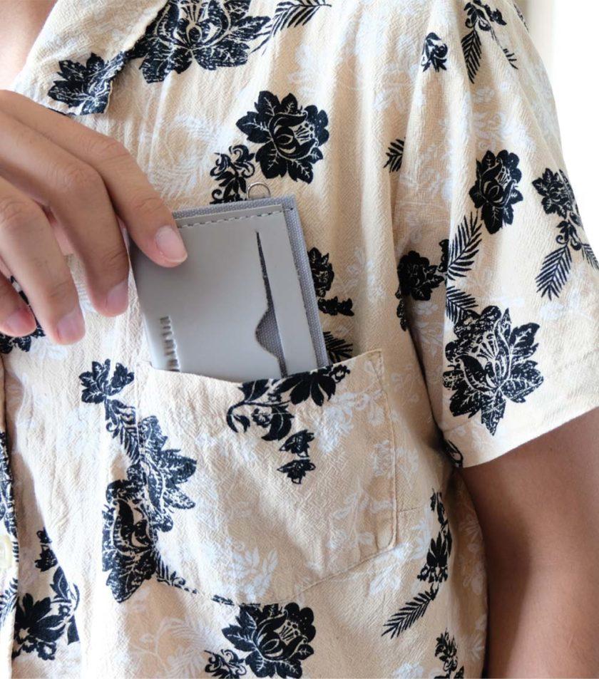 Card sleeve ซองนามบัตรหนัง สีเทา-03