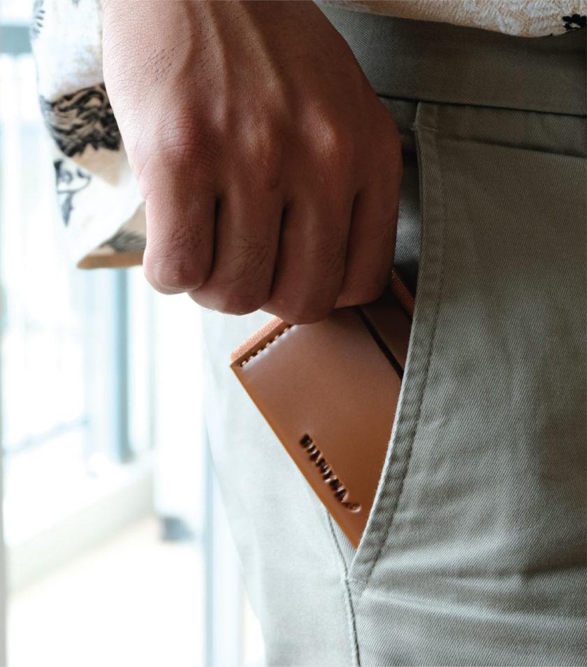 Card sleeve ซองนามบัตรหนัง สีแทน-02