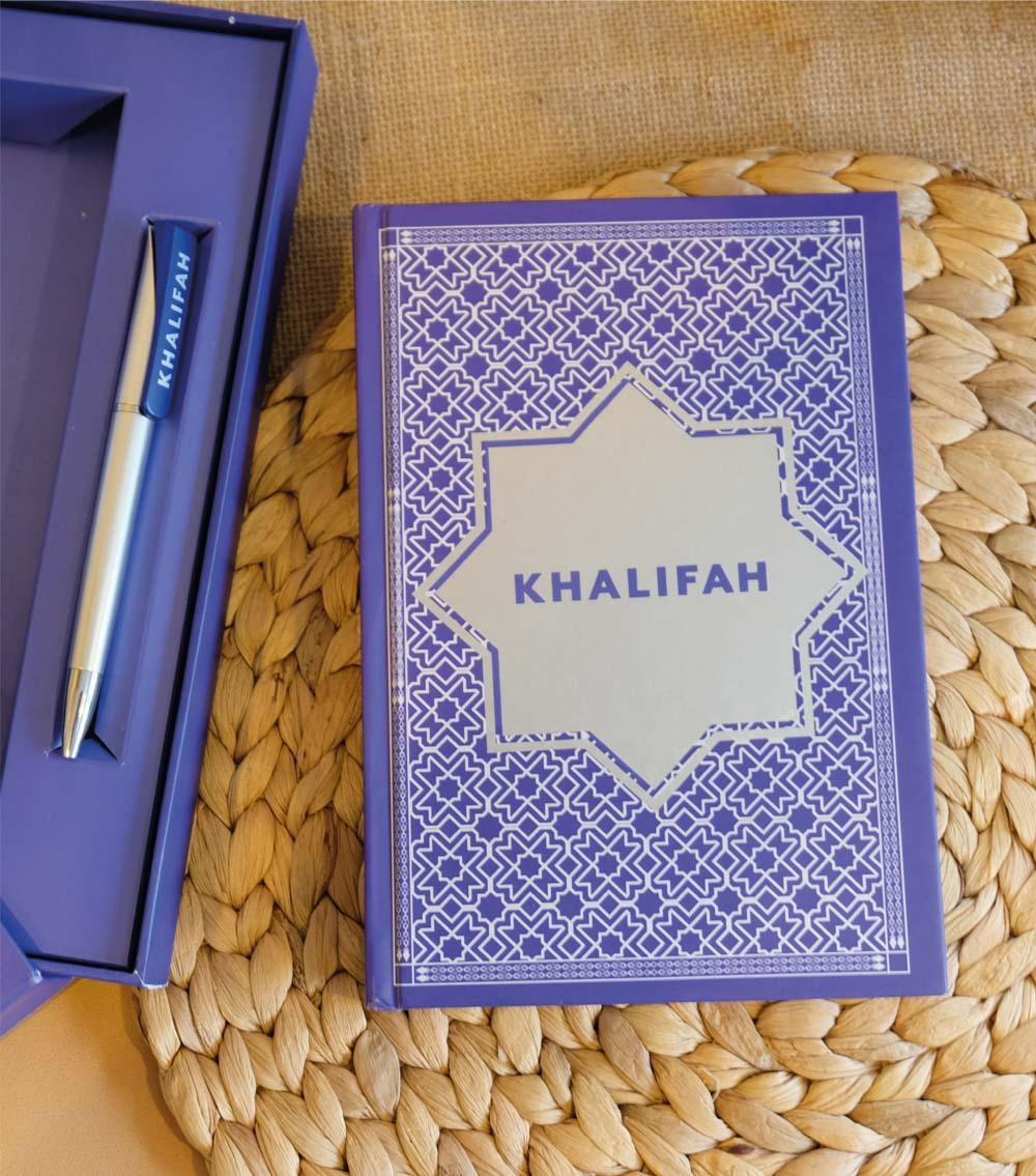 รับทำสมุดโน๊ตปกหนัง รับผลิตสมุด khalifah-4