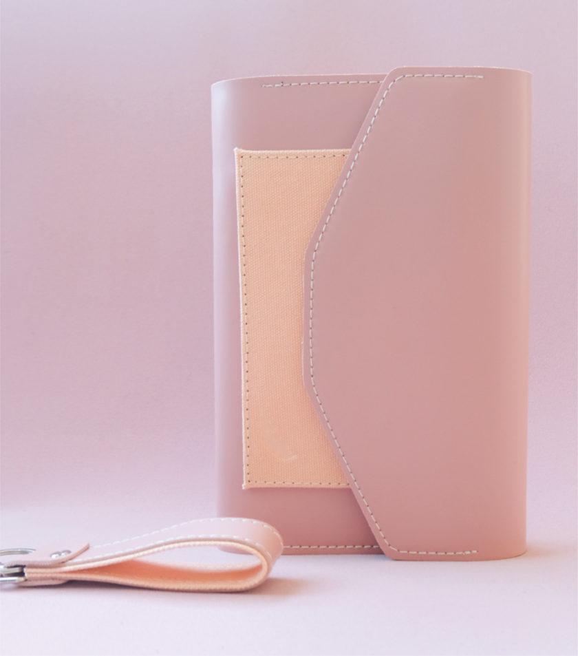 สมุดบันทึกปกหนัง pocket magbook สีชมพู-2