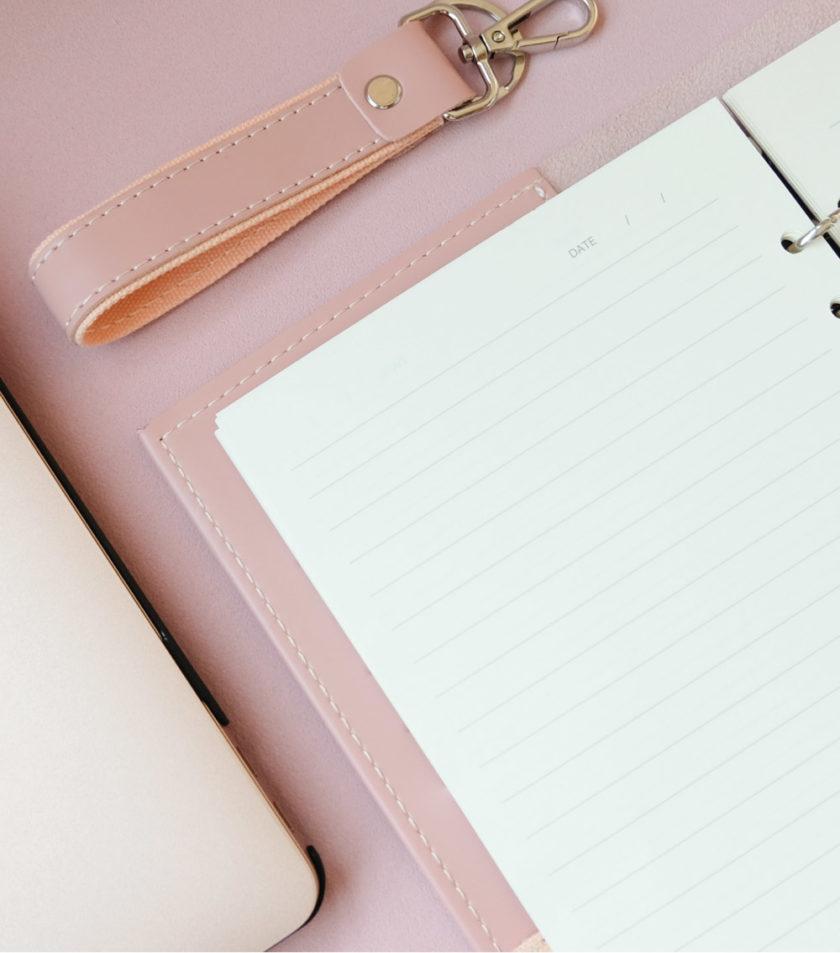 สมุดบันทึกปกหนัง pocket magbook สีชมพู-5