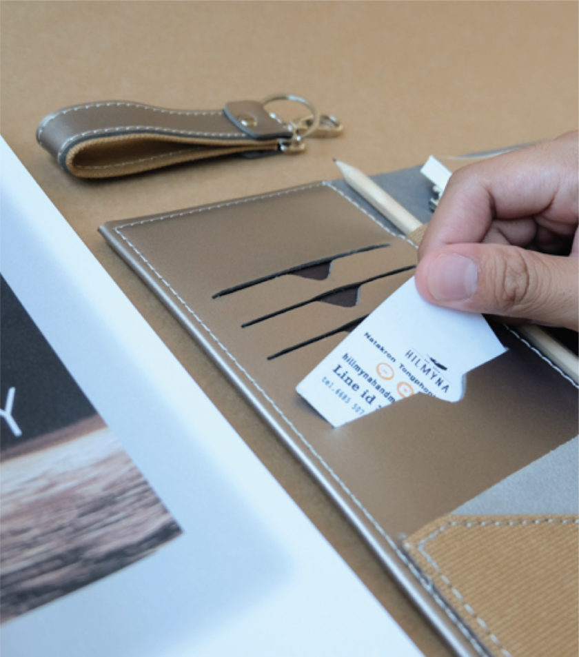 สมุดบันทึกปกหนัง pocket magbook สีน้ำตาลบรอนซ์-3