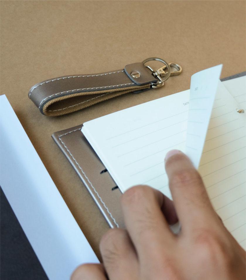สมุดบันทึกปกหนัง pocket magbook สีน้ำตาลบรอนซ์-4