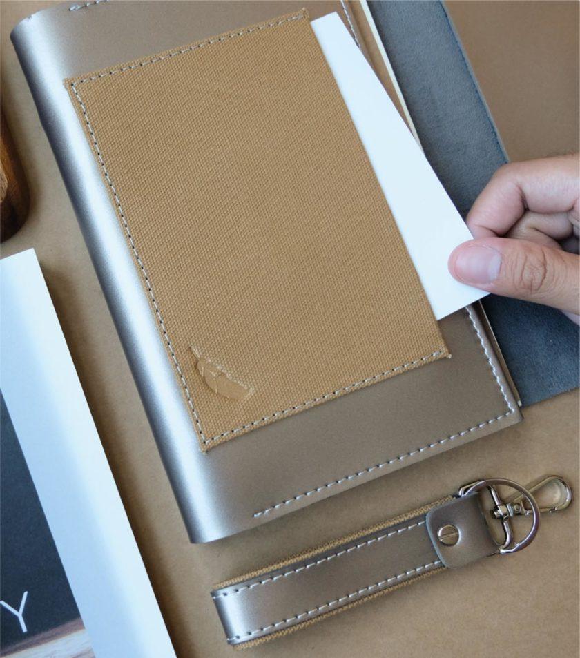 สมุดบันทึกปกหนัง pocket magbook สีน้ำตาลบรอนซ์-5
