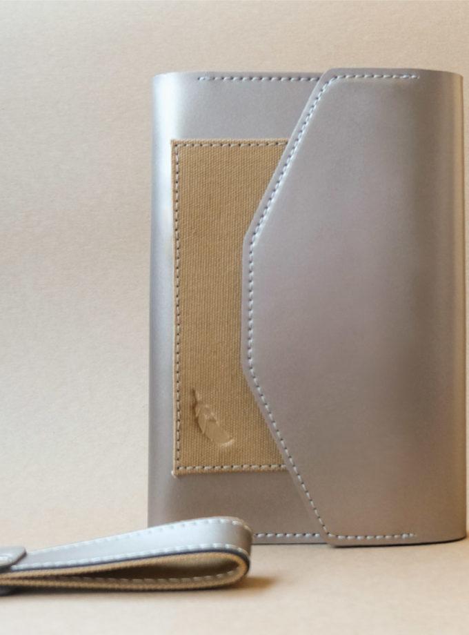 สมุดบันทึกปกหนัง pocket magbook สีน้ำตาลบรอนซ์
